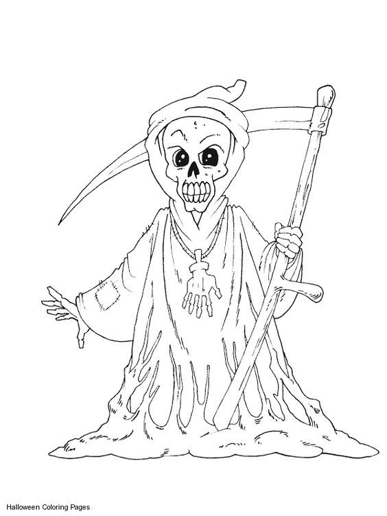 scary coloring pages - photo#35