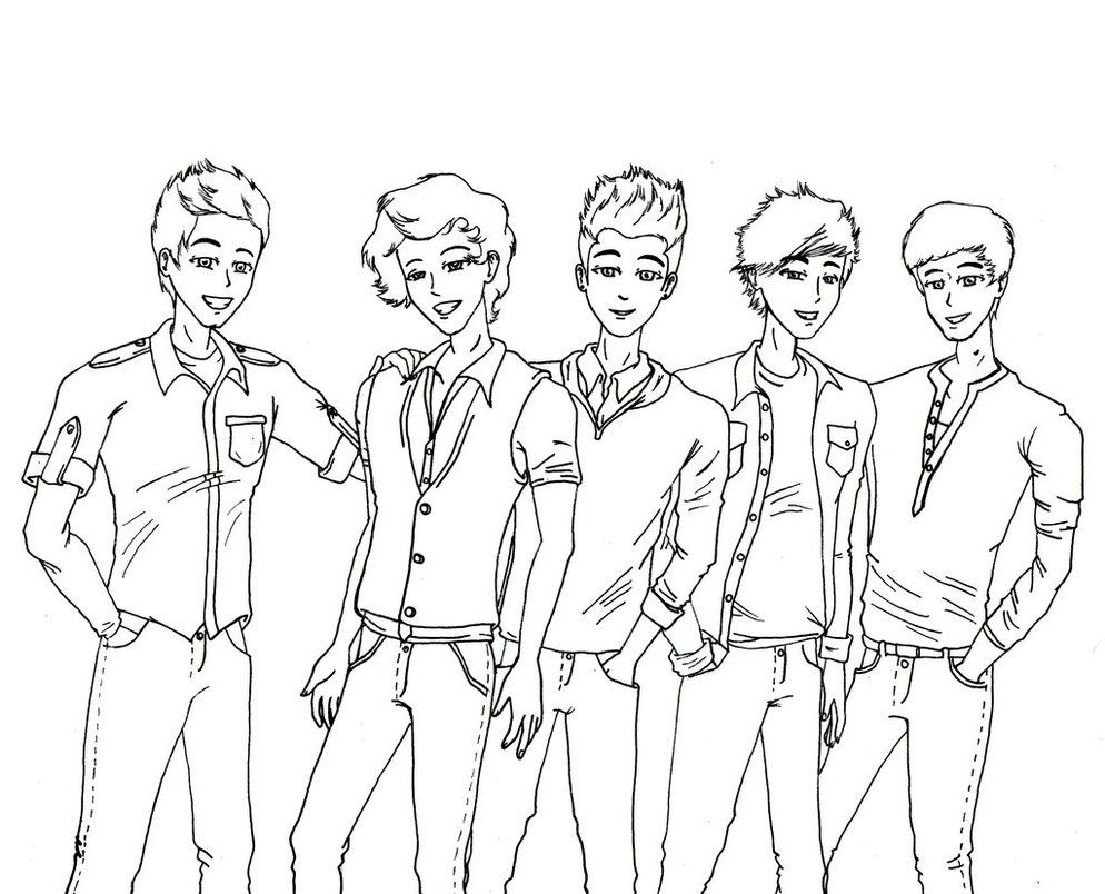 One Direction Printable Coloring