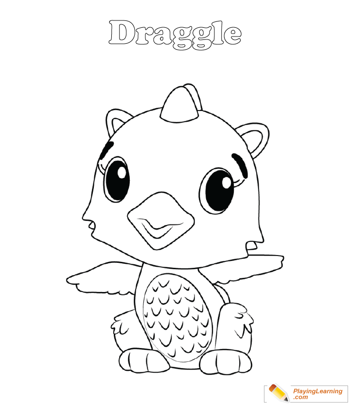 Hatchimals Coloring Page 02 Draggle Free Hatchimals Coloring Page Draggle  - Coloring Home
