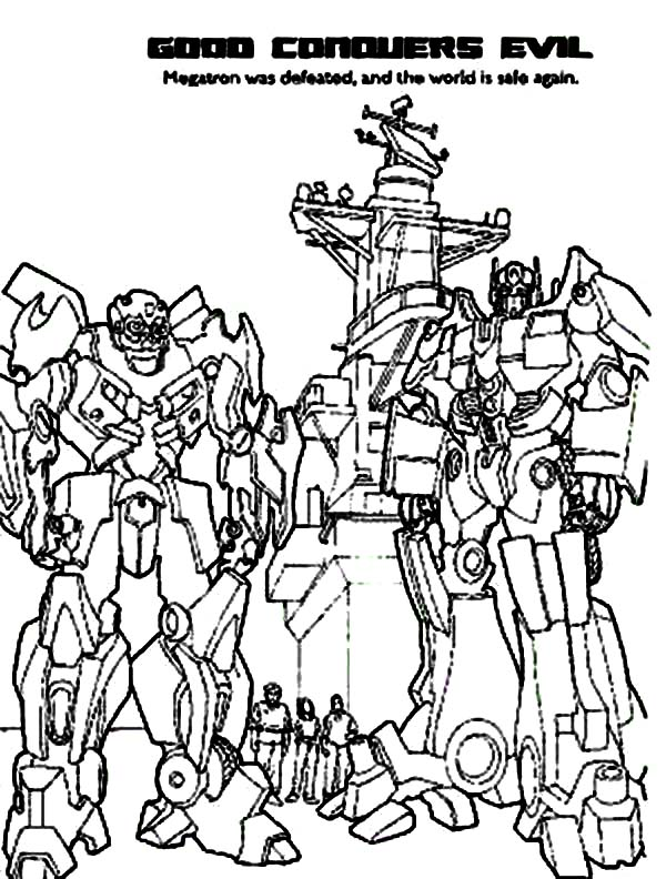 Autobots Conquers Decepticons In Transformers Coloring Page - Download &  Print Online Coloring Pages for Free | Color Nimbus