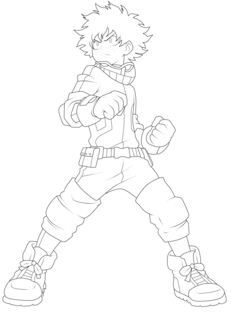 Boku No Hero My Hero Academia Free Printable Coloring Pages Colorpages Org Coloring Home