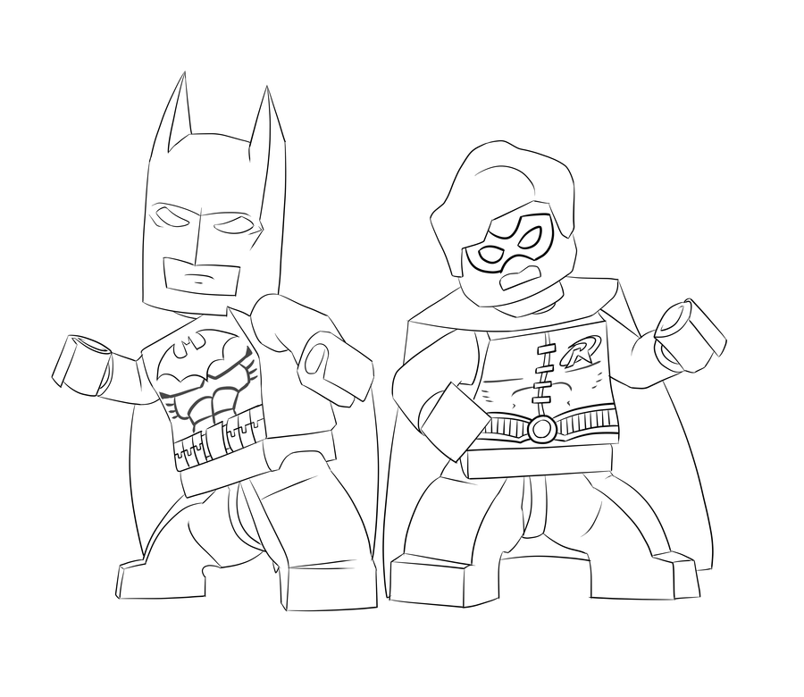 Lego Superman Coloring Page