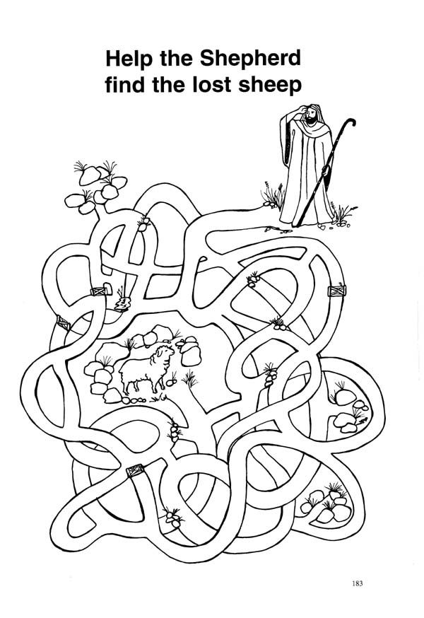 Free Bible Coloring Pages Lost Sheep