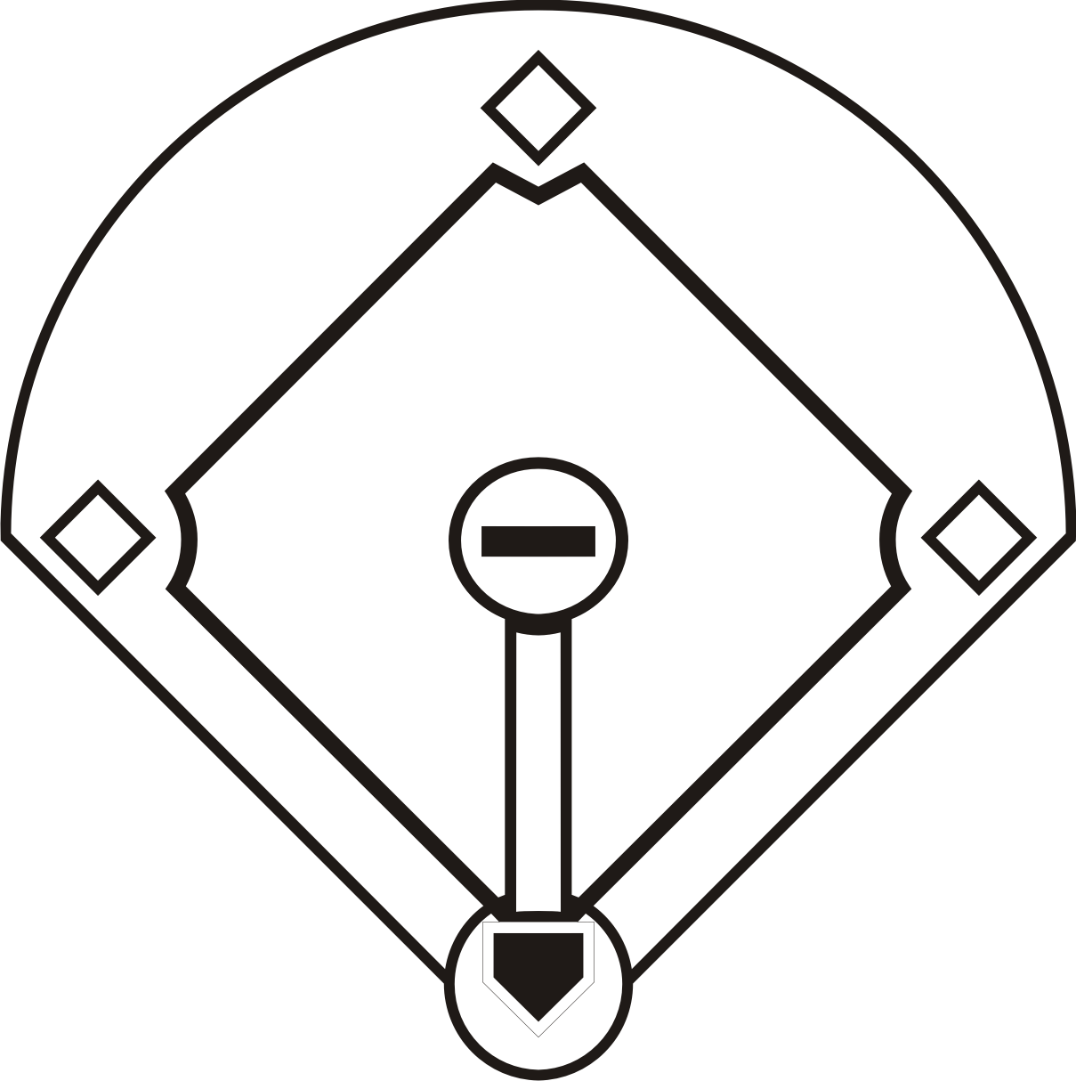 Baseball Diamond Coloring Pages - High Quality Coloring Pages ...