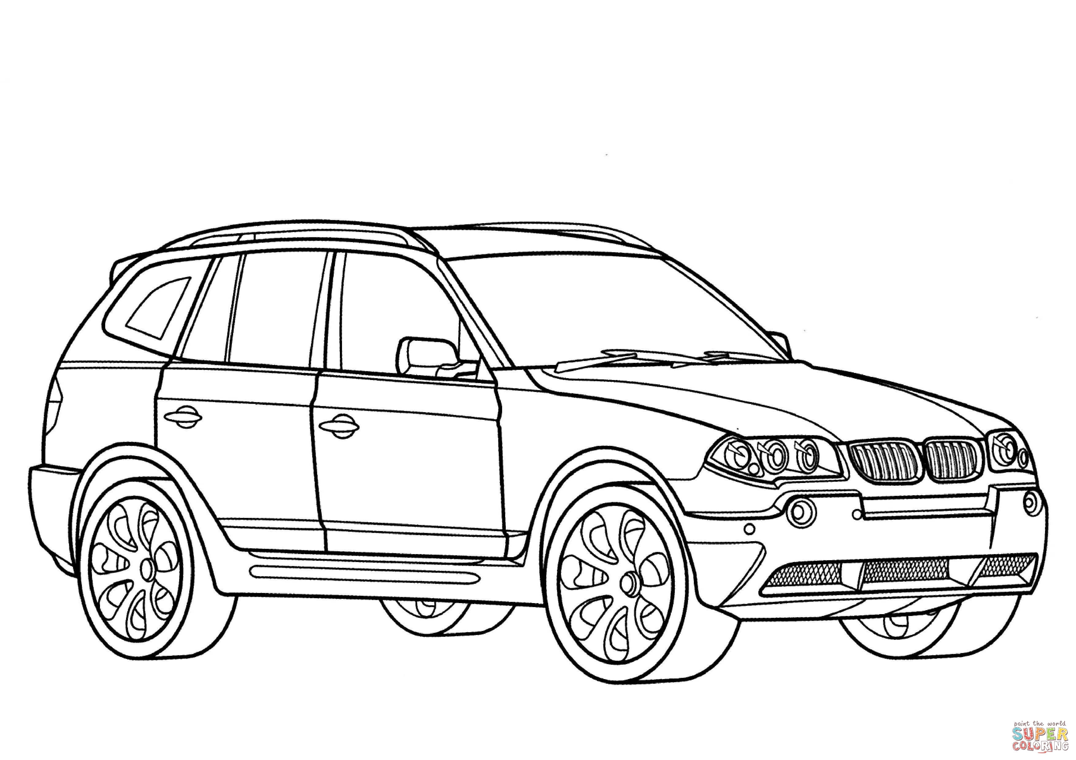 Bmw Coloring Pages Police Car BMW