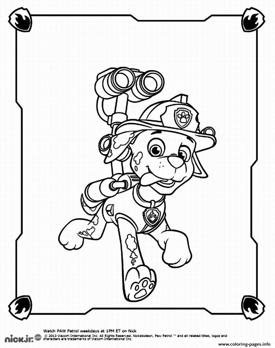 Free Paw Patrol Coloring Pages Printable, Download Free Clip Art ...