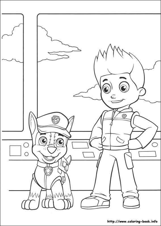 Chase and Ryder Paw Patroller - Paw Patrol Coloring Pages | Paw ...