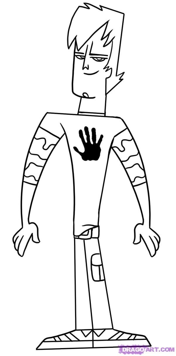 Total Drama Coloring Pages Coloring Home