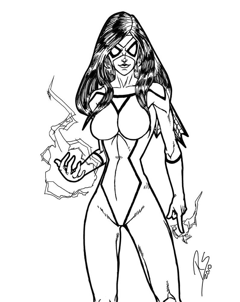72 Most Splendiferous Spider Girl Coloring Pages Superhero ...