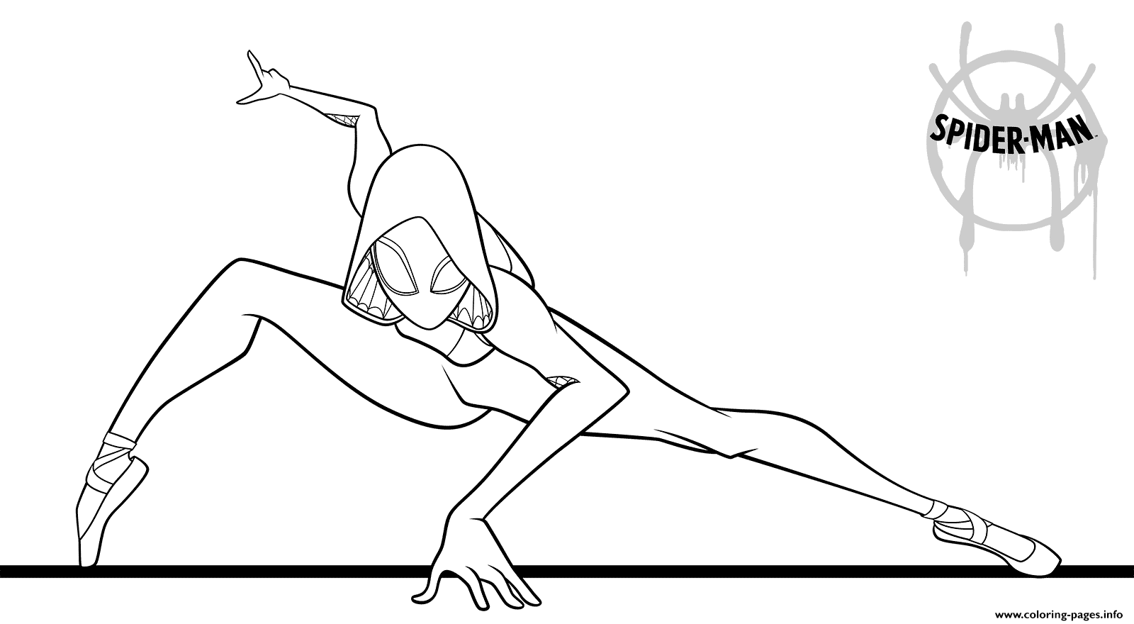 Spider Girl Coloring Pages Printable