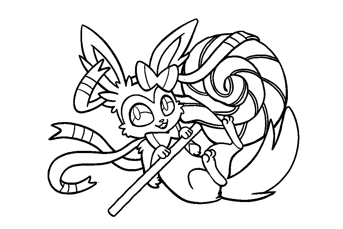 Sylveon Coloring Pages - Coloring Home