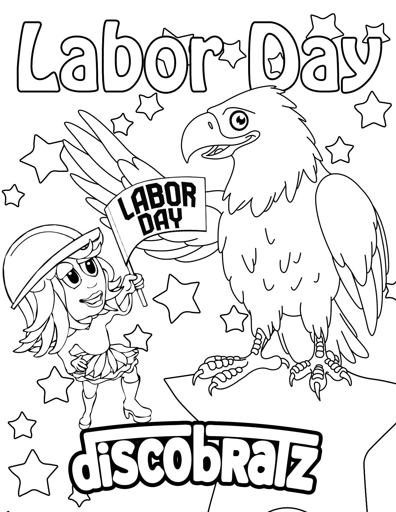 Free Labor Day Coloring Pages Coloring Home
