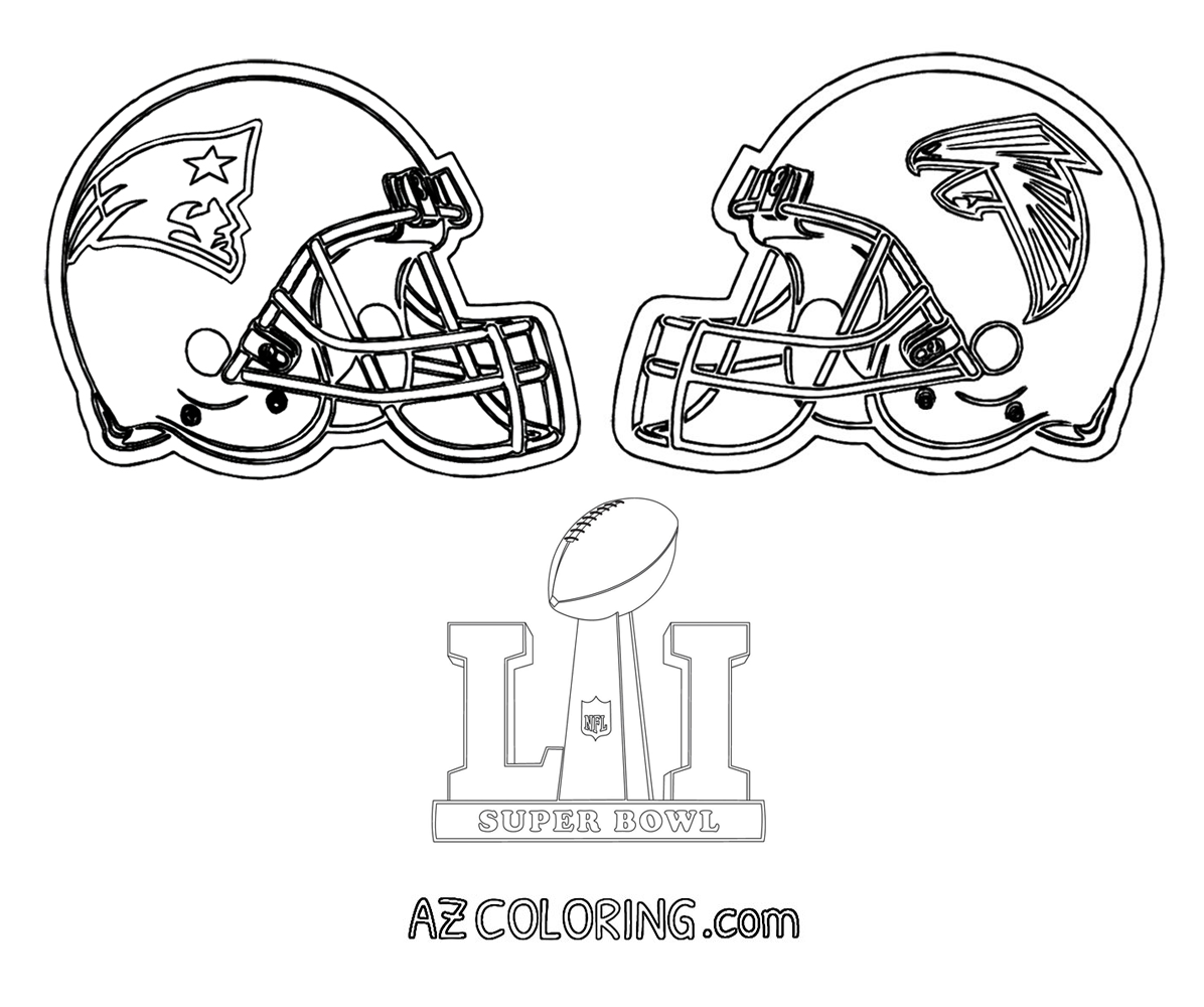 super bowl 51 coloring page patriots vs falcons - Super Bowl Trophy Coloring Pages