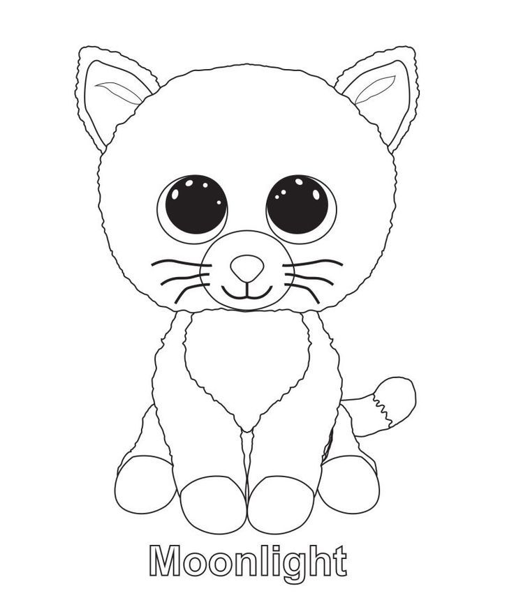 Beanie Boos Coloring Pages - Coloring Home