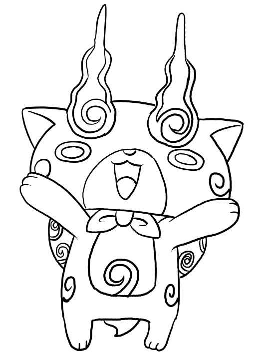 Yo-Kai Watch Coloring Pages - Coloring Home