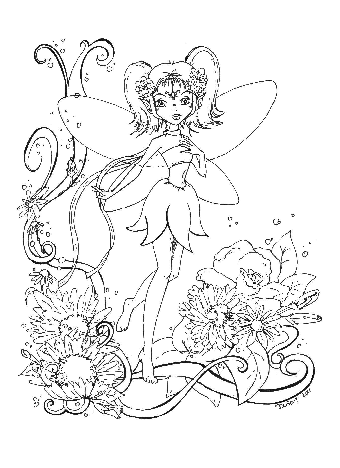 Coloring Pages : Best Evil Fairy Coloring For Adults Images ...