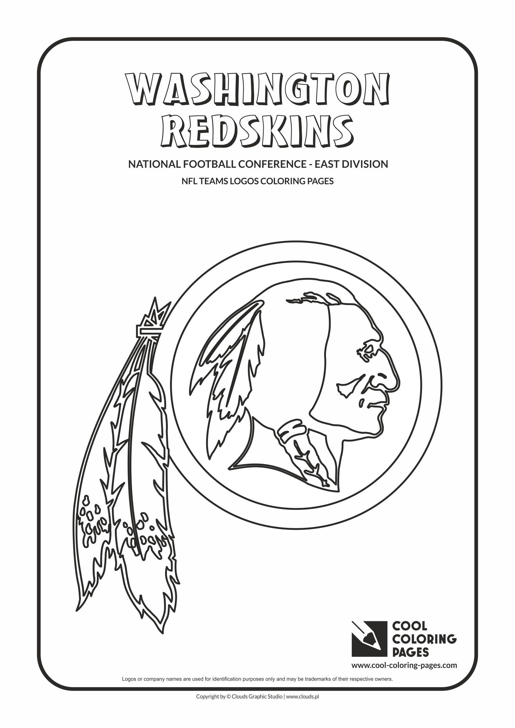 Coloring Pages Washington Redskins Coloring Pages redskins coloring pages az washington nfl american football teams logos coloring