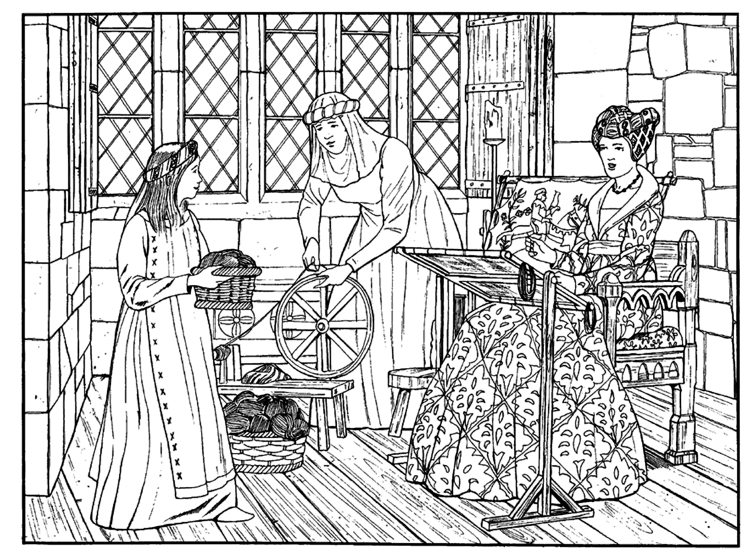 8 pics of princess coloring pages medieval times medieval