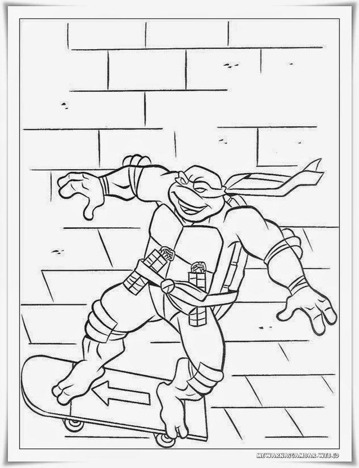 Mewarnai Gambar Donatello Kura Kura Ninja Coloring Pages