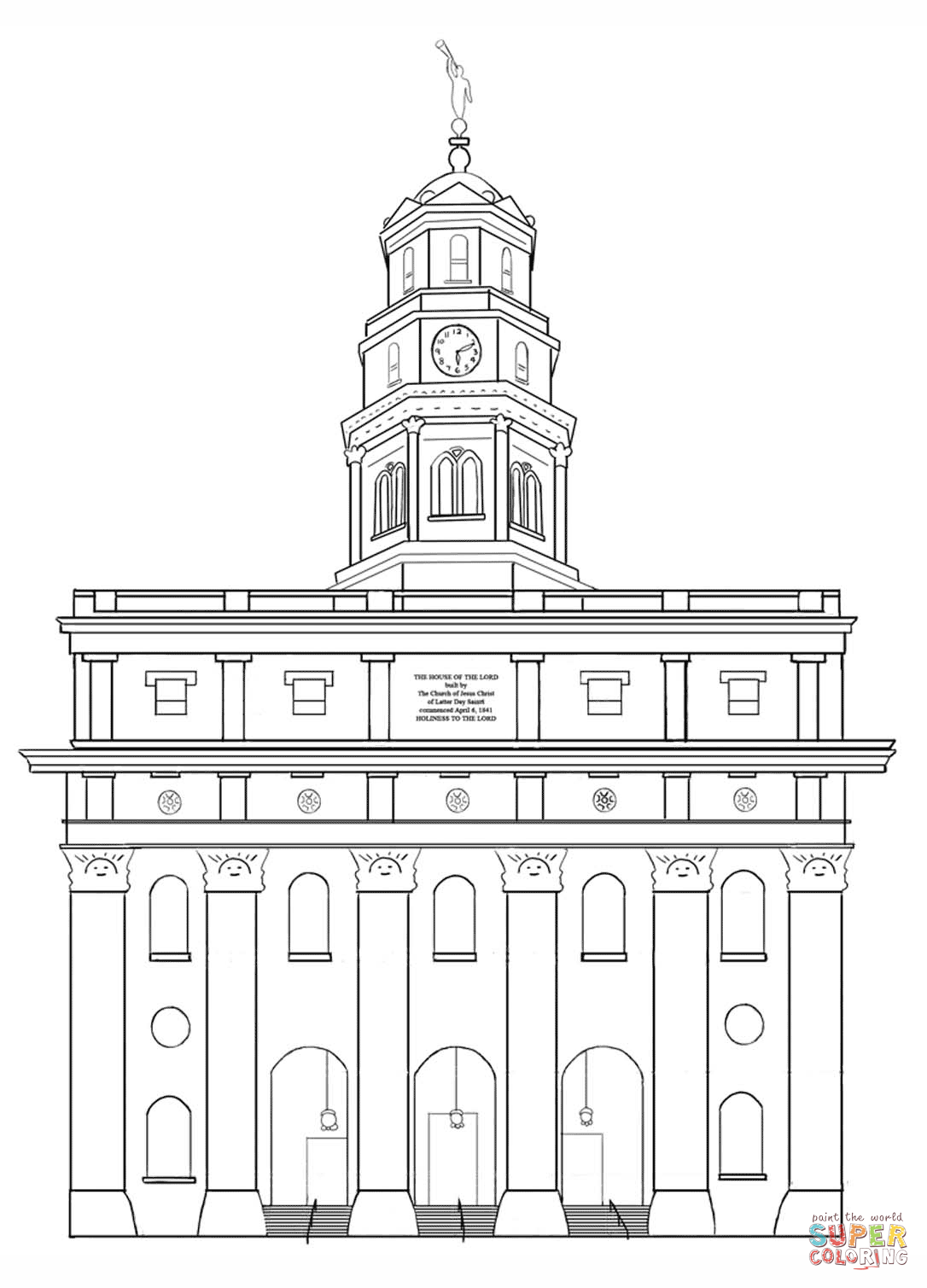 Lds Coloring Pages Pdf : Nauvoo lds temple coloring page free printable