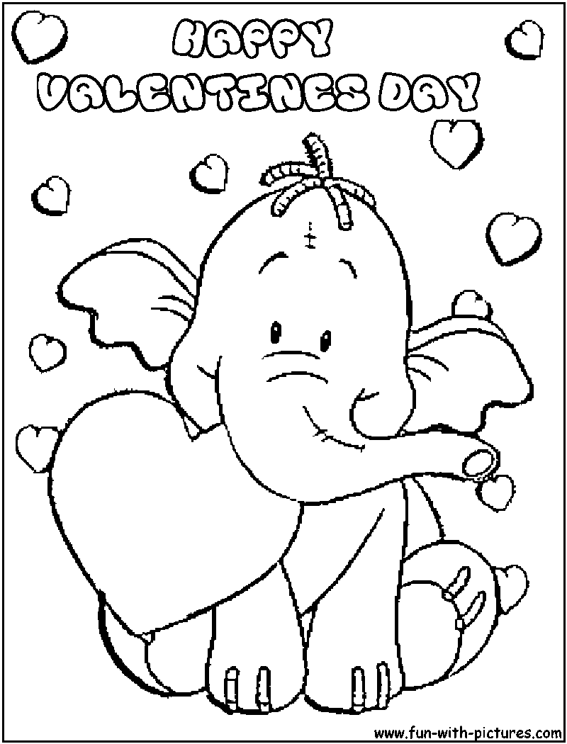 Coloring Pages Valentines Day Free Printable