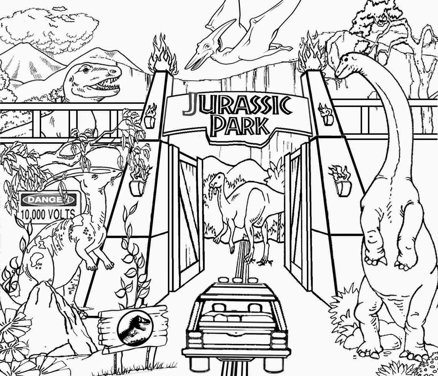 10 pics of jurassic park builder coloring pages jurassic park