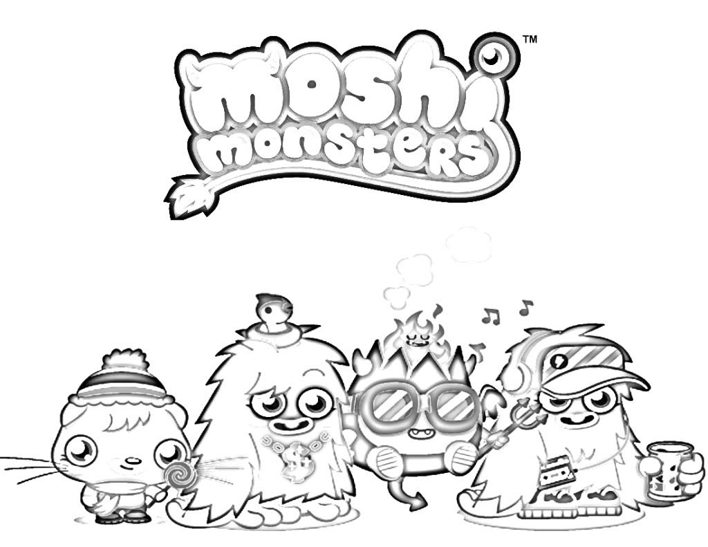 moshi monsters coloring pages moshi monster pooky coloring pages