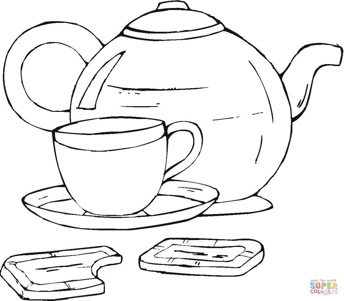printable tea cup coloring pages - photo#25
