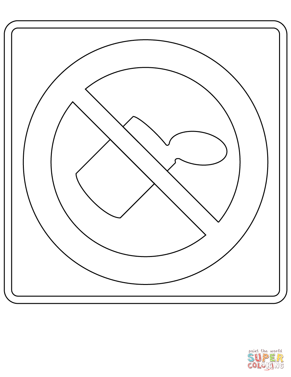 Printable Stop Sign Coloring Page - Coloring Home
