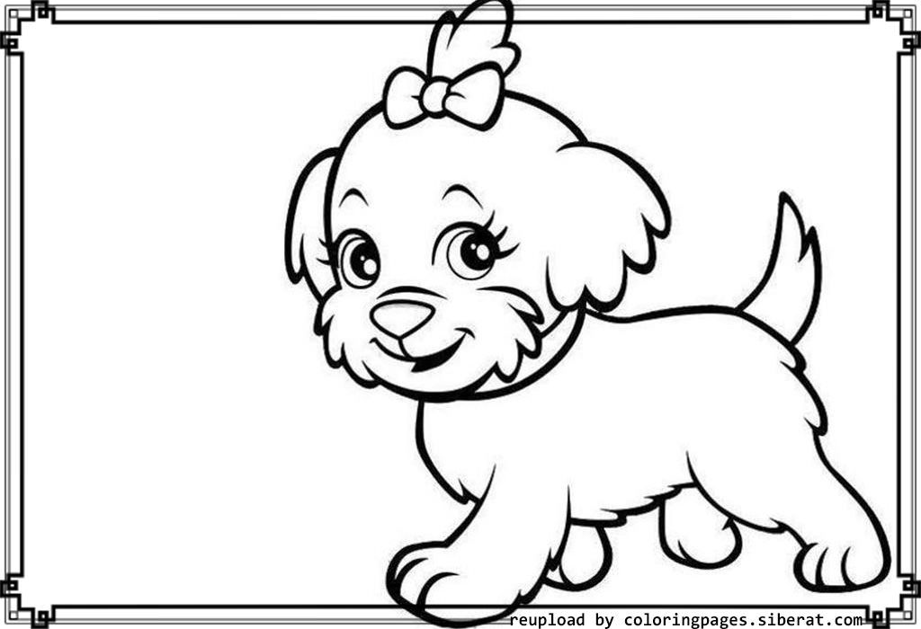 Little Puppy Coloring Pages Coloring