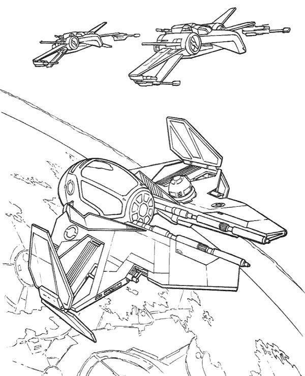 Jedi Starfighter X-Wing coloring pages - Topcoloringpages.net