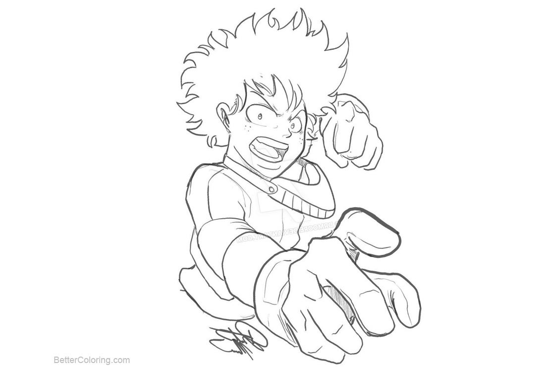 Deku Coloring Pages Coloring Home