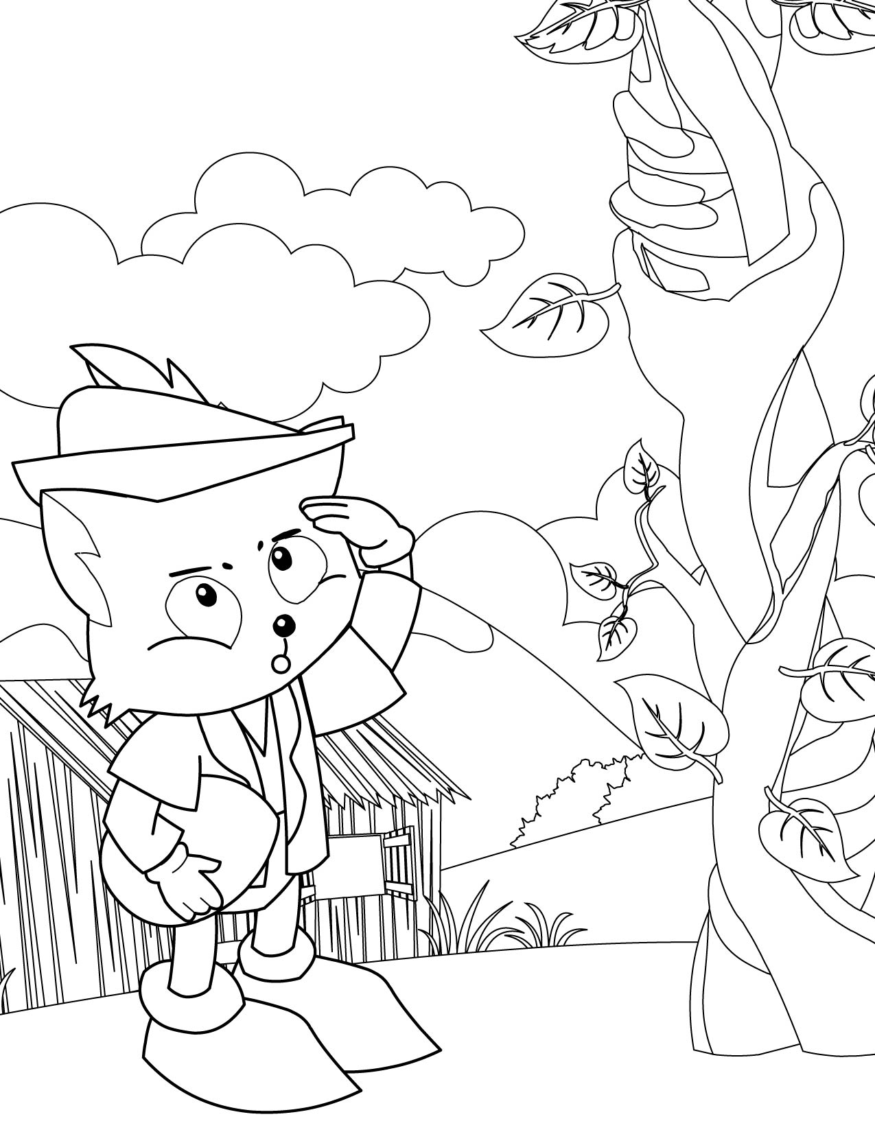 beanstalk coloring pages - photo#13