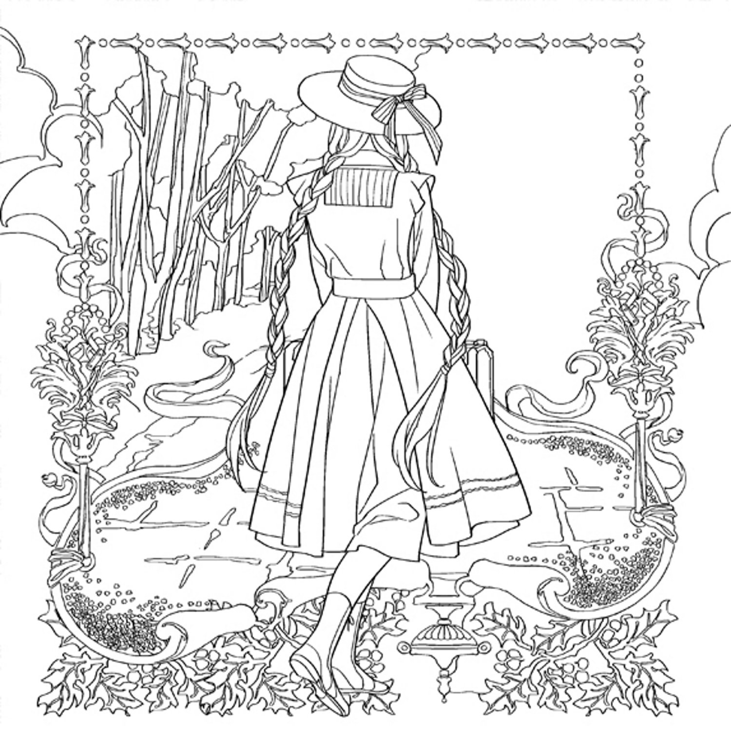 Ann Of Green Gables Coloring Page