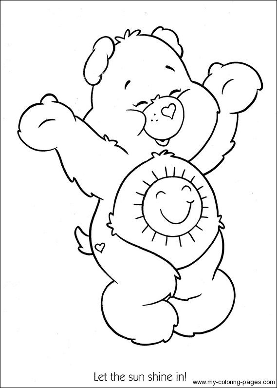 funshine cear coloring pages - photo#6