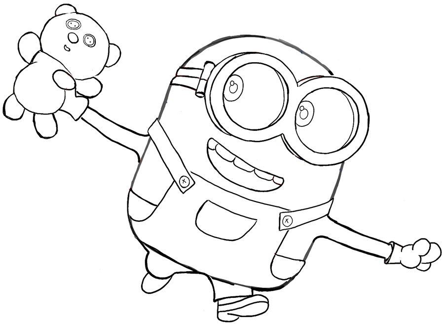 - Minions Coloring Pages Bob - Coloring Home