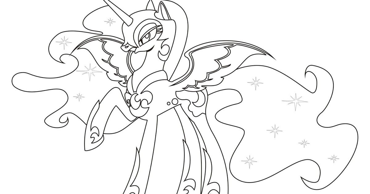 Nightmare Moon Coloring Pages | Team colors