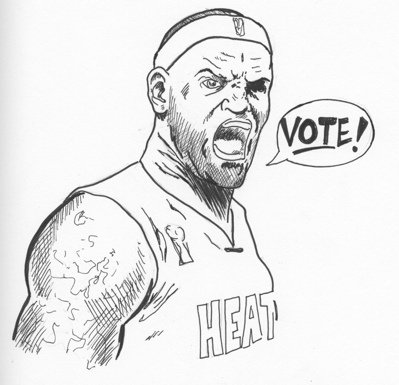 LeBron James Miami Heat Coloring Page
