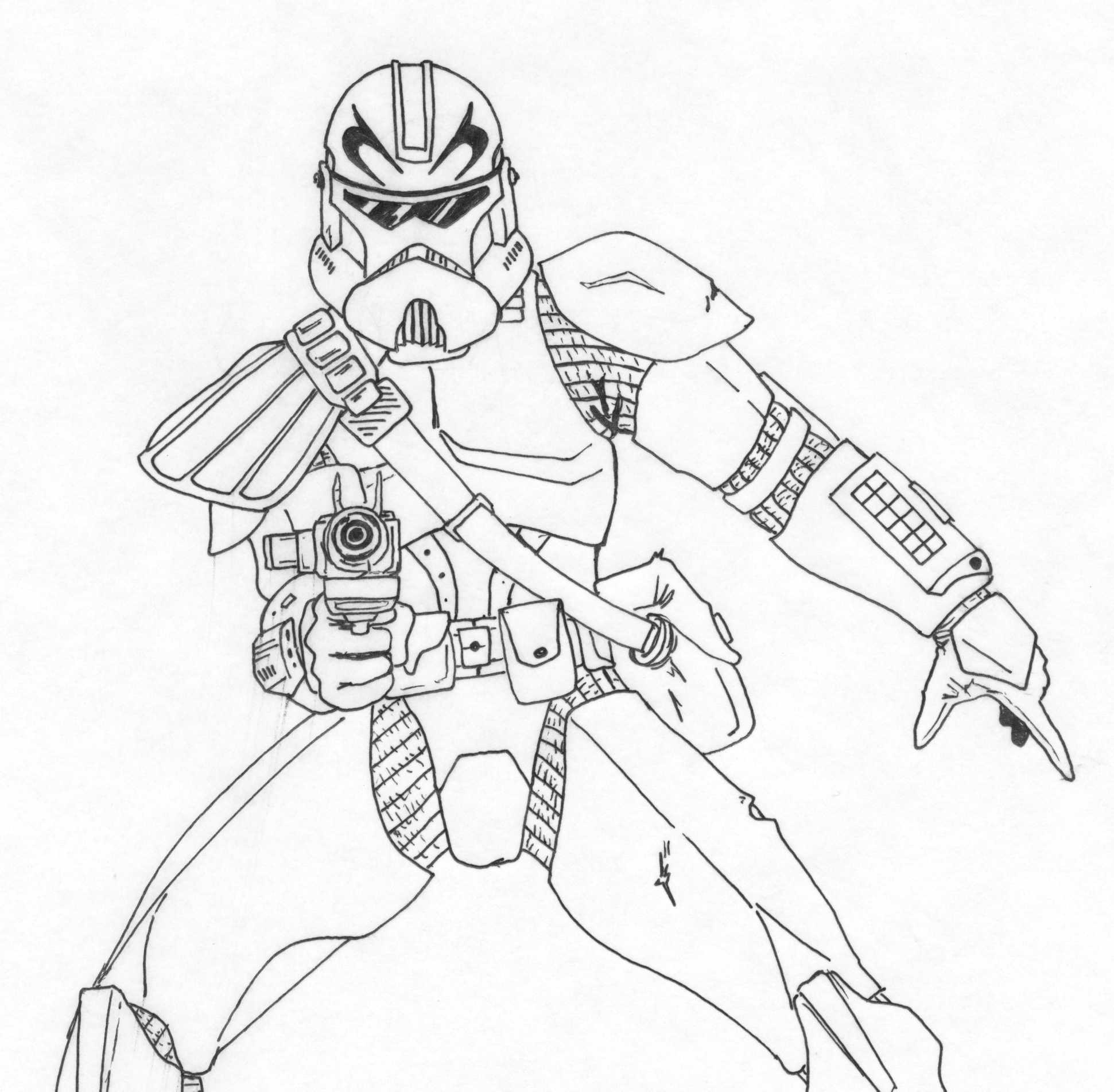 Star Wars Captain Rex Coloring Page - Coloring Home