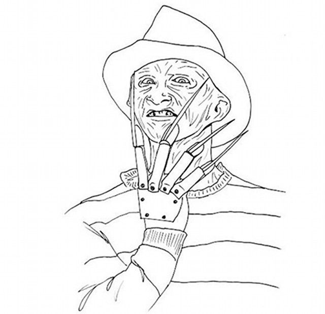Freddy Krueger Coloring Home
