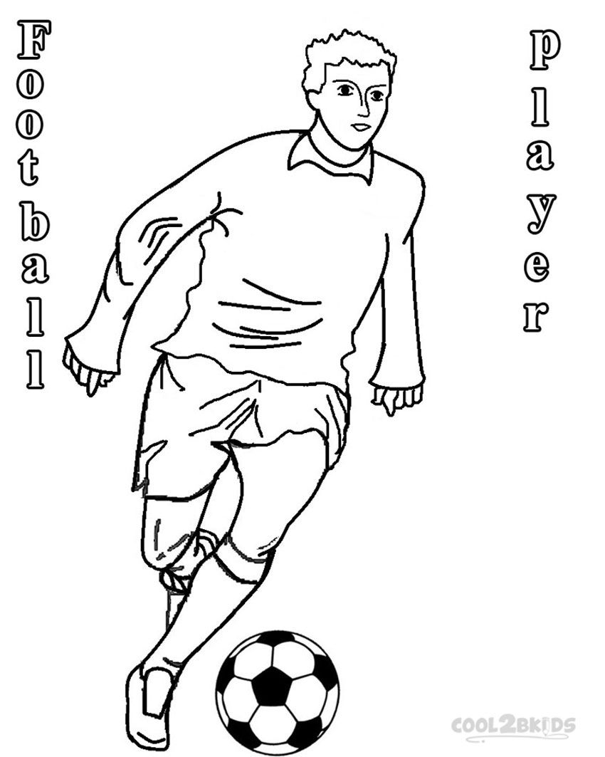Free Football Players Coloring Pages - Coloring Home