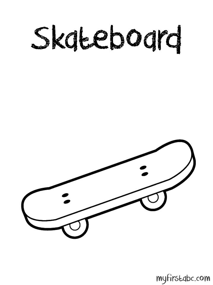 Skateboarding coloring pages coloring home - Dessin skateboard ...