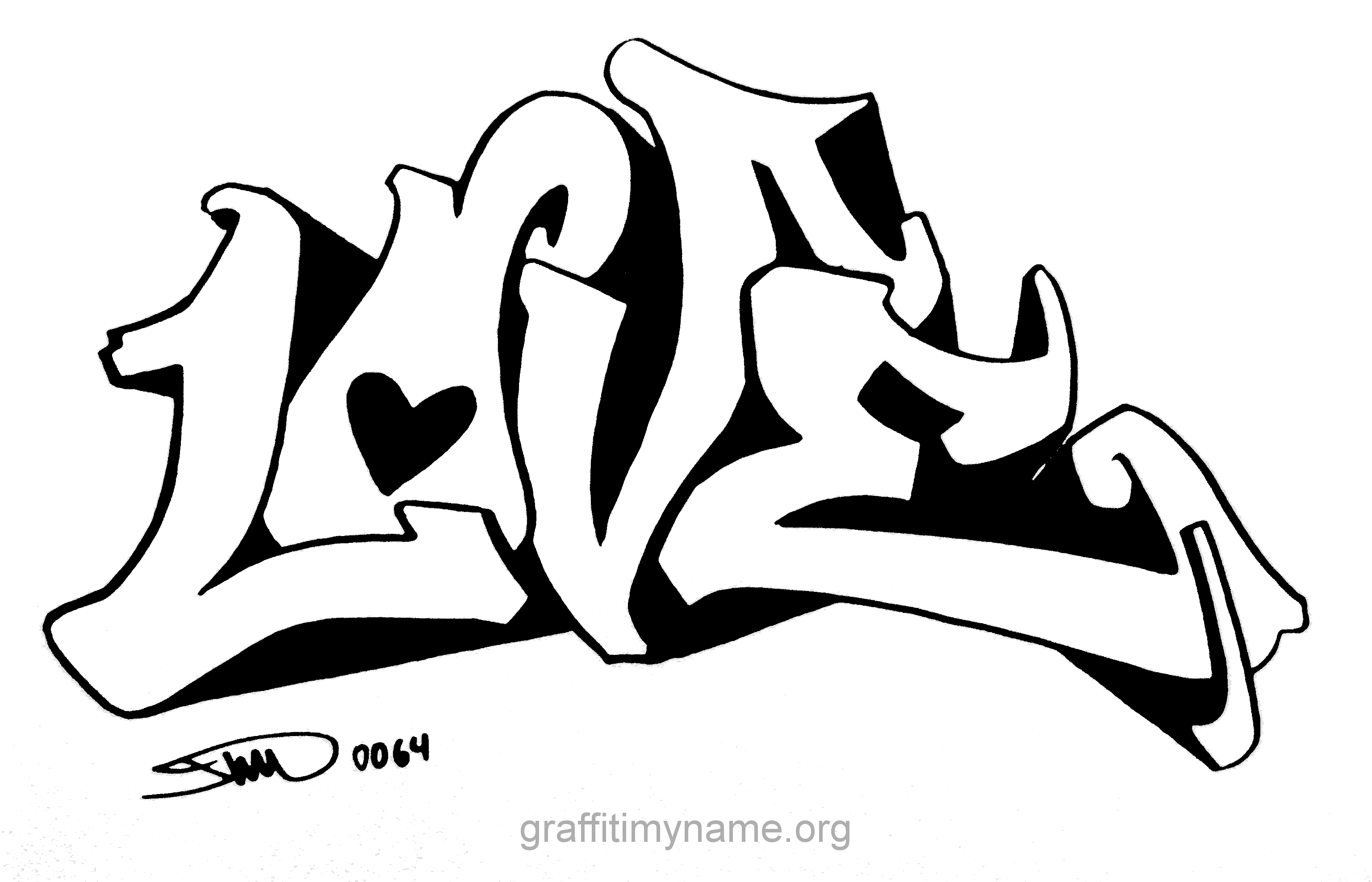 I Love You Coloring Pages Pdf : Pics of love you graffiti coloring pages i