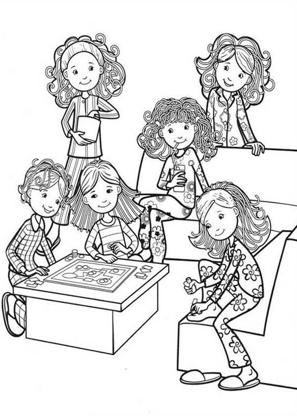 House Room Coloring Page: Girls Bedroom Coloring Page