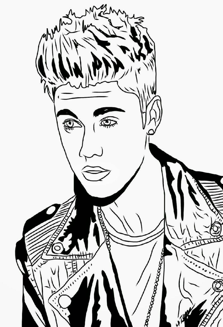 Free coloring sheets justin bieber - Justin Bieber Coloring Sheets Free Coloring Page