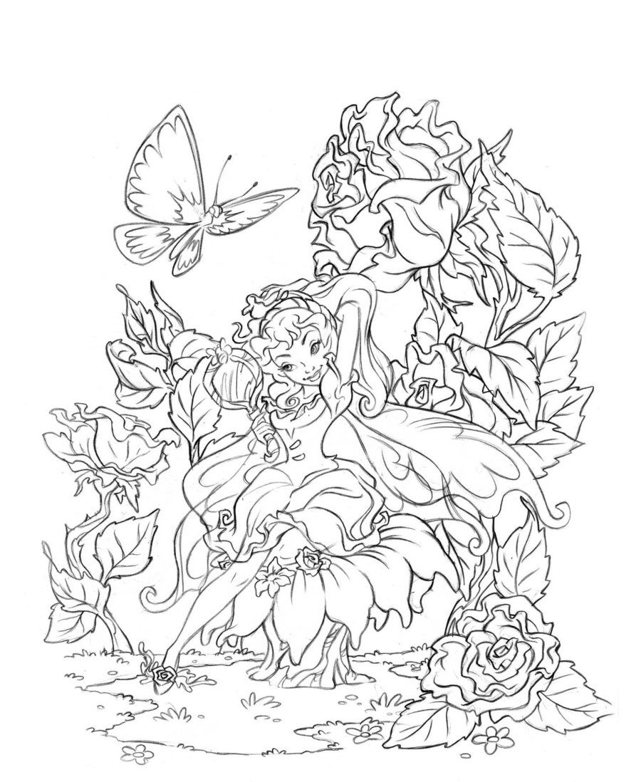 printable fantasy coloring pages for adults