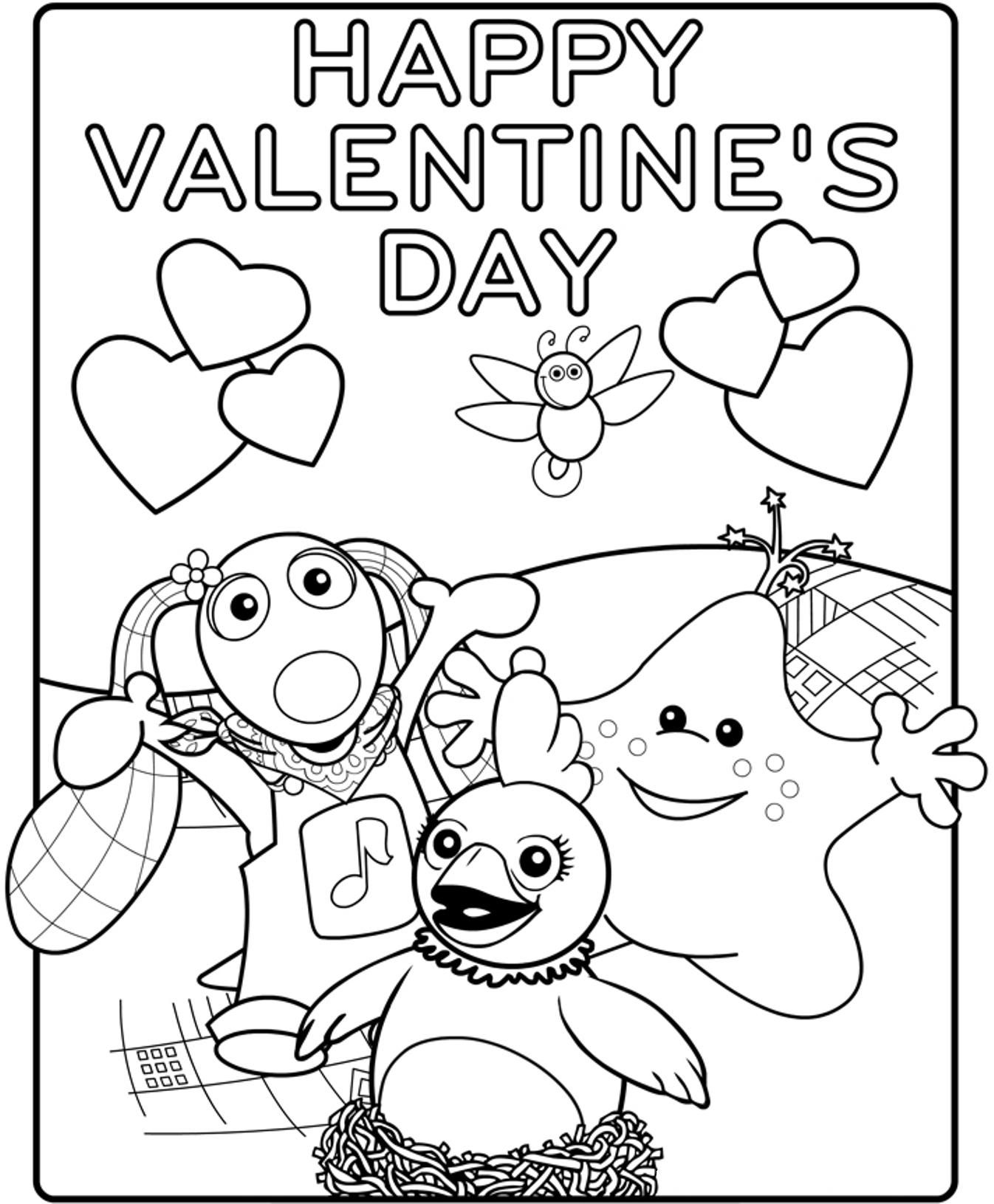 Printable Happy Valentines Coloring Pages Coloring Home