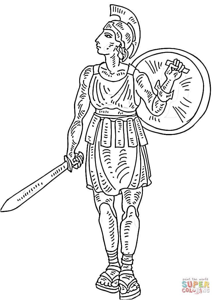 Roman Soldier coloring page | Free Printable Coloring Pages
