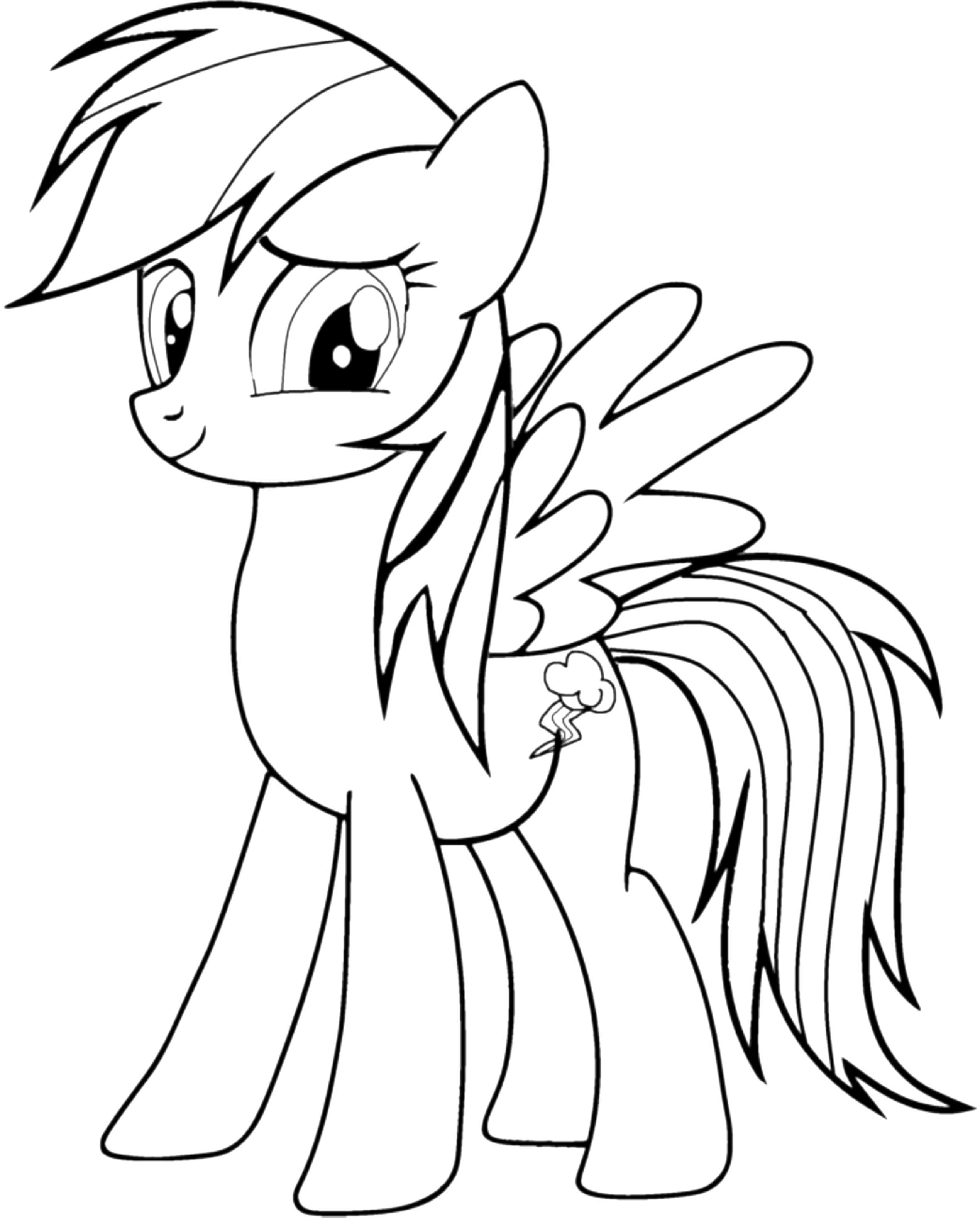 Cute My Little Pony Coloring Pages Rainbow Dash - Printable Kids ...