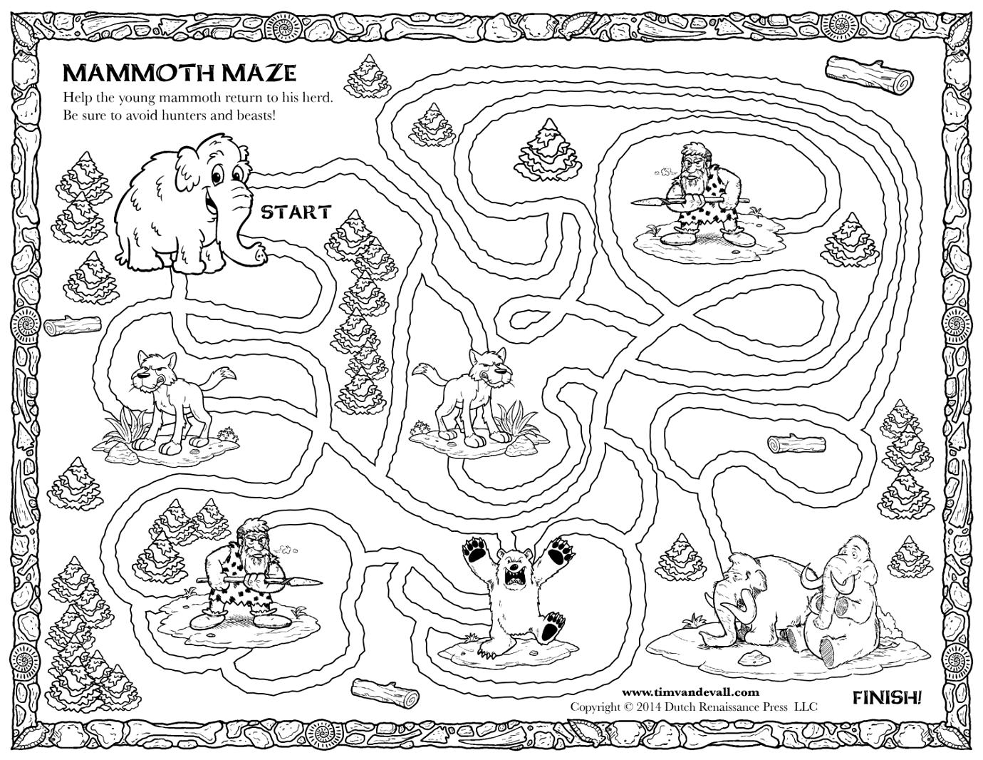 Woolly Mammoth Facts For Kids Free Coloring Pages Of Draw A ...